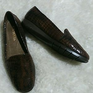 Aerosoles Army Croc Embossed Leather Loafers